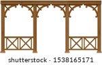 arcade classic wooden veranda... | Shutterstock .eps vector #1538165171