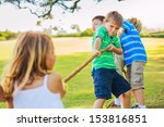 Group Of Happy Young Children...