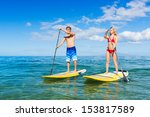 attractive couple stand up... | Shutterstock . vector #153817589
