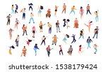dancing crowd people flat... | Shutterstock .eps vector #1538179424