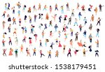 dancing crowd people flat... | Shutterstock .eps vector #1538179451