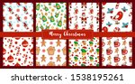 christmas seamless pattern set... | Shutterstock .eps vector #1538195261