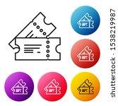 black line cinema ticket icon... | Shutterstock .eps vector #1538219987
