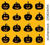 halloween decoration jack o... | Shutterstock .eps vector #153824054
