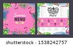 restaurant summer dessert menu...   Shutterstock .eps vector #1538242757