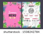 restaurant summer pizza menu... | Shutterstock .eps vector #1538242784