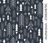 seamless christmas pattern with ... | Shutterstock .eps vector #1538248781