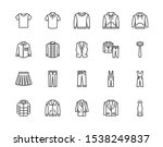 cloth flat line icons set.... | Shutterstock .eps vector #1538249837