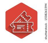 white line cinema ticket icon... | Shutterstock .eps vector #1538261594