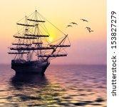 sailboat against a beautiful... | Shutterstock . vector #153827279