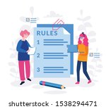 rules in the document ... | Shutterstock .eps vector #1538294471