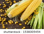 Corns On The Wooden Rustic...