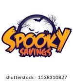 spooky savings event headline... | Shutterstock .eps vector #1538310827