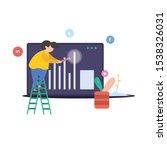 concept digital marketing. flat ...   Shutterstock .eps vector #1538326031