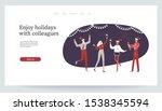 merry christmas. people jollify ... | Shutterstock .eps vector #1538345594