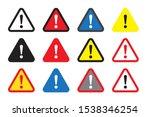 danger sign  warning sign ... | Shutterstock .eps vector #1538346254