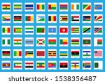africa flag icon 54 countries | Shutterstock .eps vector #1538356487