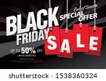 black friday sale banner layout ... | Shutterstock .eps vector #1538360324