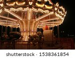 Carousel With Lights  In The...