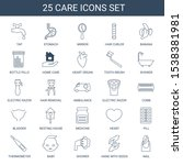 care icons. trendy 25 care... | Shutterstock .eps vector #1538381981