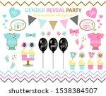 gender reveal party big set....   Shutterstock .eps vector #1538384507