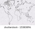world map silhouette on ... | Shutterstock . vector #15383896