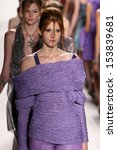 Small photo of NEW YORK, NY - SEPTEMBER 07: Models walk the runway finale at the Katya Leonovich fashion show during Mercedes-Benz Fashion Week Spring 2014 at Lincoln Center on September 7, 2013 in New York City.