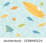 ocean waves sea seamless...   Shutterstock .eps vector #1538440124