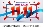 11.11 shopping day sale poster... | Shutterstock .eps vector #1538441531