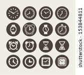 clock icons | Shutterstock .eps vector #153844811