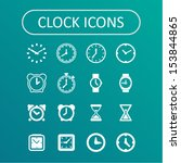 clock icons for website | Shutterstock .eps vector #153844865