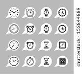 clock icons for app   Shutterstock .eps vector #153844889