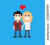 Pixel Art Couple In Love...