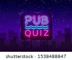 pub quiz night announcement... | Shutterstock . vector #1538488847
