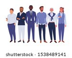 businessmen team. vector... | Shutterstock .eps vector #1538489141