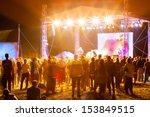 outdoor concert bright and loud ... | Shutterstock . vector #153849515