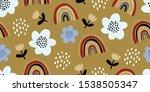 elegant seamless pattern with... | Shutterstock .eps vector #1538505347