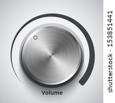 vector volume knob with metal...