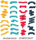 colorful web ribbon big set... | Shutterstock .eps vector #1538515637