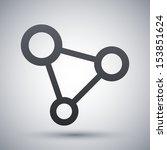 vector concept network icon | Shutterstock .eps vector #153851624