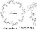 vector set. delicate flowers....   Shutterstock .eps vector #1538555681