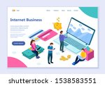 creative website template of... | Shutterstock .eps vector #1538583551