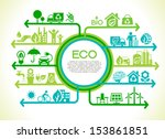 eco concept. tree  with earth   ... | Shutterstock .eps vector #153861851