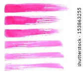 watercolor paint brush strokes. ... | Shutterstock .eps vector #153863255