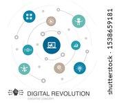 digital revolution colored...