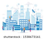 smart city for web page  banner ... | Shutterstock .eps vector #1538673161