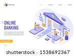 online banking landing page... | Shutterstock .eps vector #1538692367