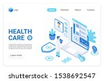 health care landing page vector ...