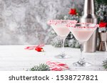 Pink Peppermint Martini With...