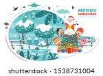 christmas greeting card design... | Shutterstock .eps vector #1538731004
